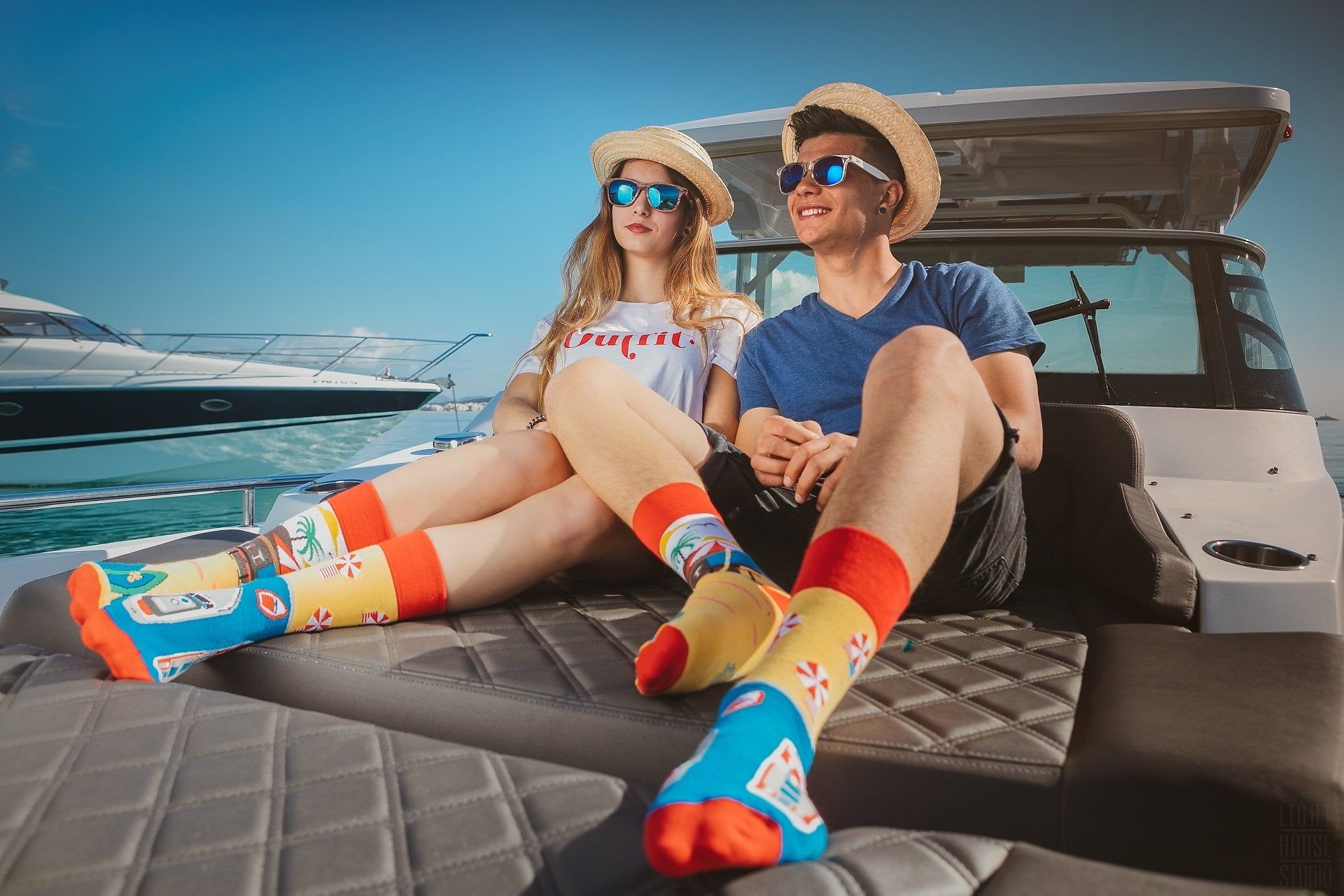 Summer Paradise | Colourful Mismatched Funny Socks | King Stone | SpoxSox | Spox Sox
