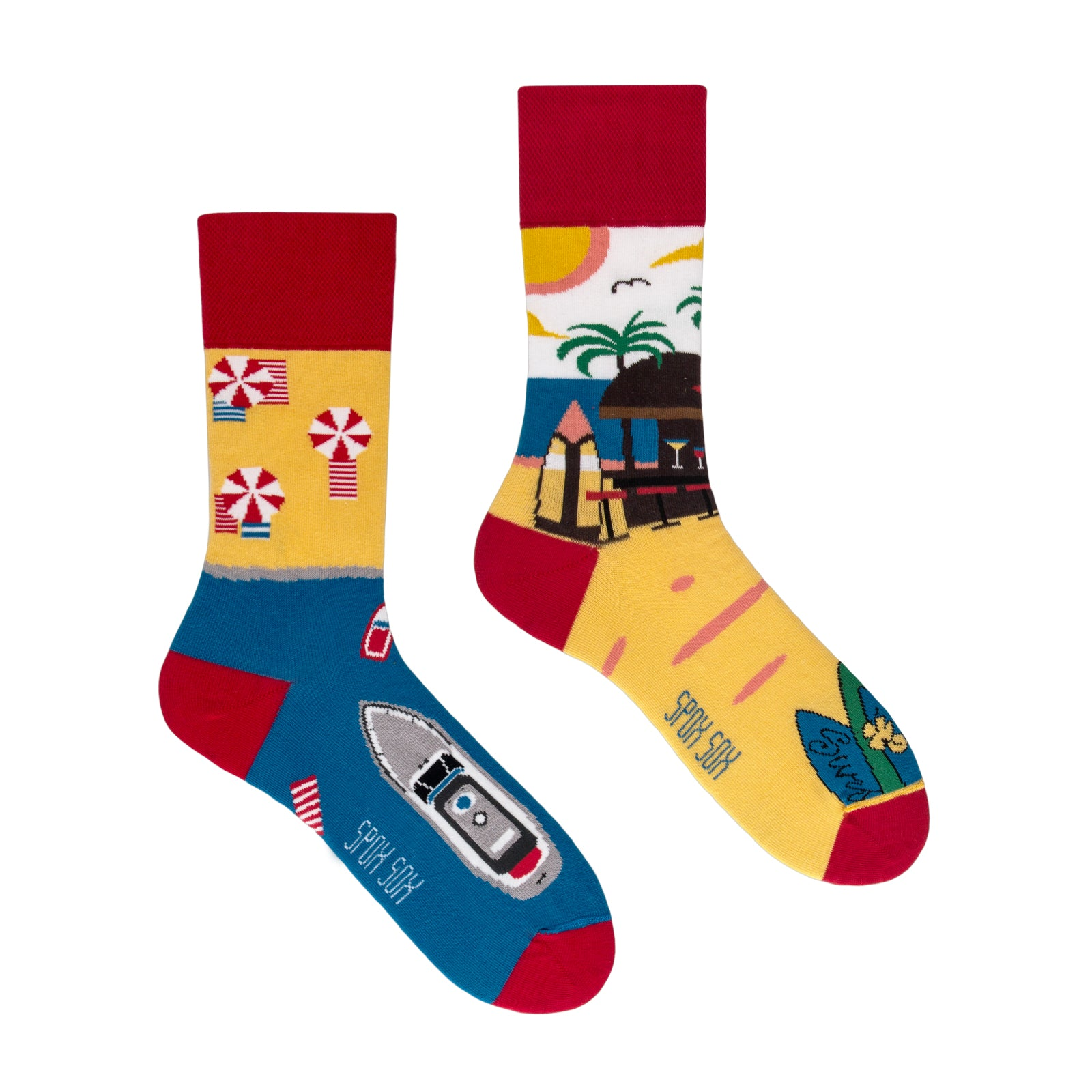 Summer Paradise | Colourful Mismatched Funny Socks | King Stone