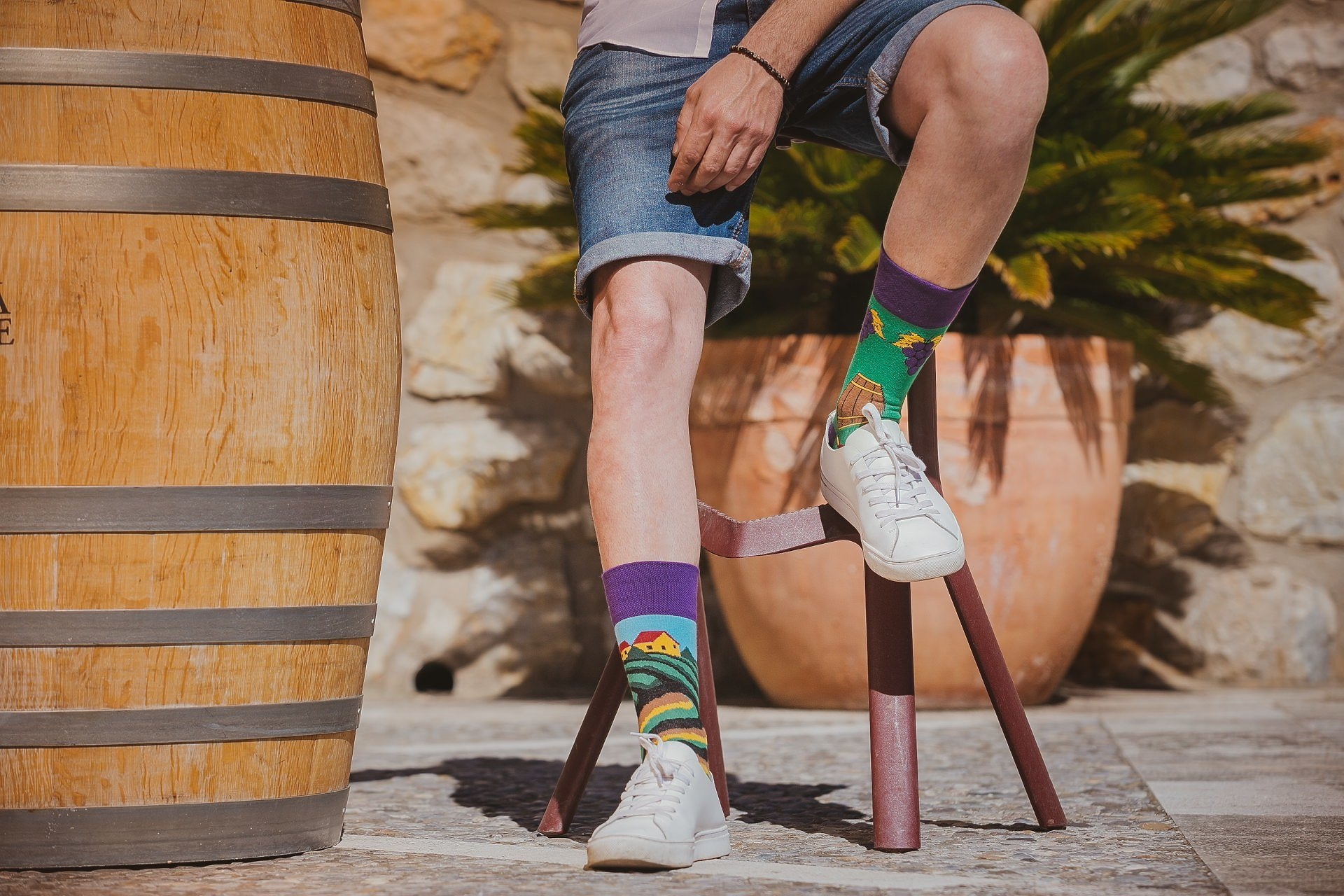 Vineyard  | Colourful Mismatched Funny Socks | King Stone | Canada | SpoxSox | Spox Sox