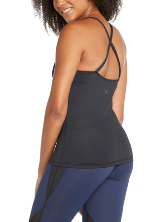Mia Criss-Cross Back Yoga Top