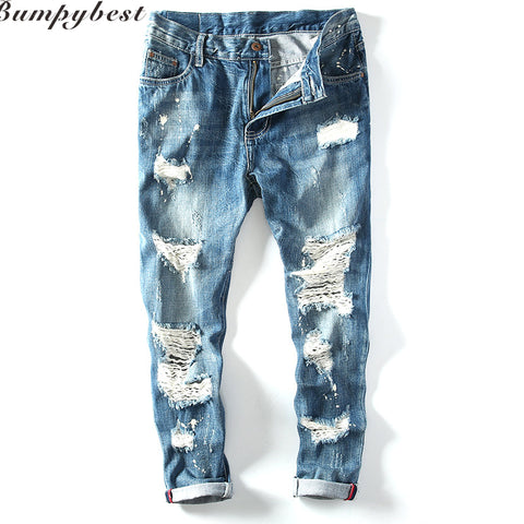 debb8385 Justin Jeans Men Biker Cowboy Pants Hip Hop Jeans Broken Fashion New Design  Summer Hole Denim Jackets Trousers