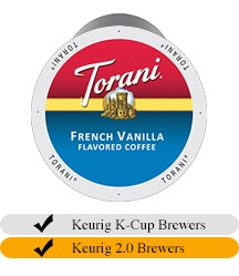 Torani French Vanilla Coffee Cups (24) | Beanwise