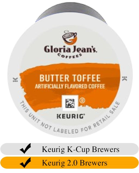 Gloria Jean's Butter Toffee K-Cups x 24