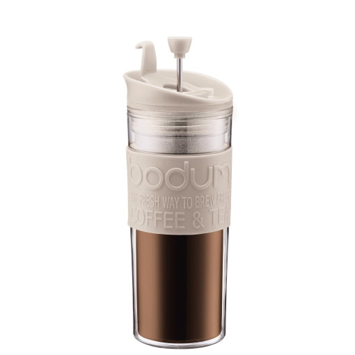 Bodum Travel Press 15oz (Off White) | Beanwise