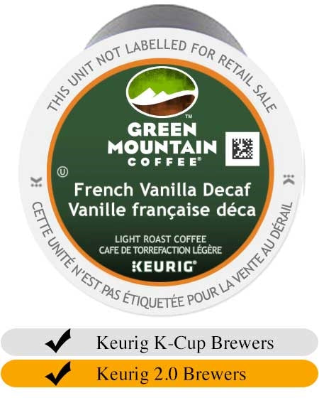 Green Mountain French Vanilla DECAF K-Cups (24) | Beanwise