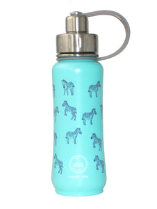Green's Your Colour Triple Insulated Bottle Zippy Zebra (Teal - 500ml) | Beanwise