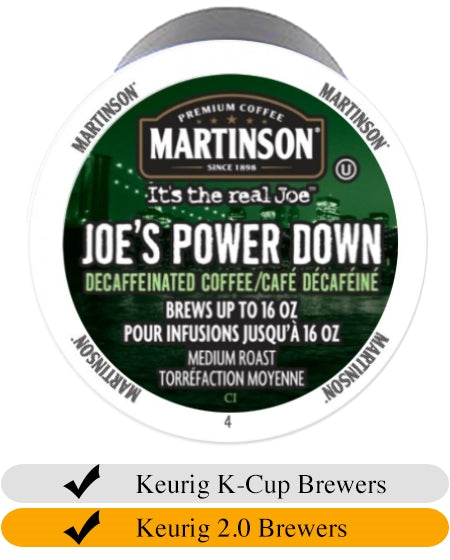 Martinson Joe's Power Down DECAF K Cups (24) | Beanwise