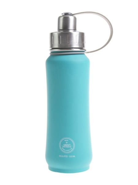 Green's Your Colour Triple Insulated Bottle - Jammin Jade (Rubberized) (500ml) | Beanwise