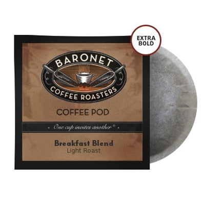 Baronet Extra Bold Breakfast Blend Pods (12g) | Beanwise
