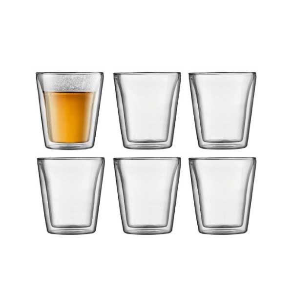 Bodum Canteen Double Wall Thermo-Glasses 3oz (6pcs)