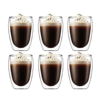 Bodum Pavina Double Wall Glasses 12oz x 6 Glasses | Beanwise