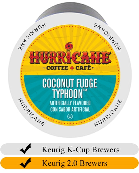 Hurricane Coconut Fudge Typhoon Coffee Cups x 24