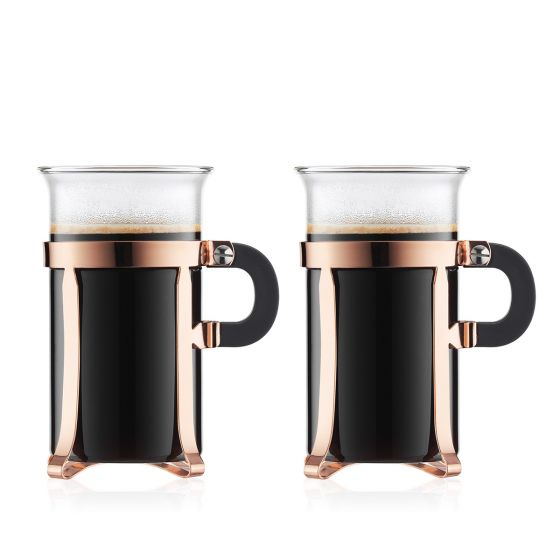 Bodum Chambord Coffee Glasses 10oz (Copper - Set of 2)