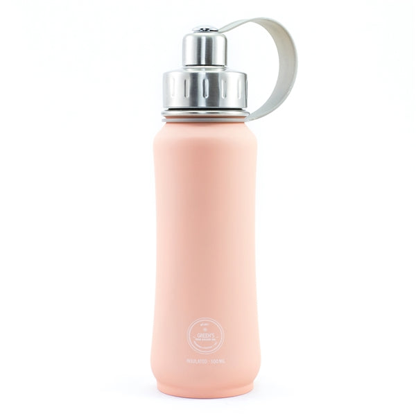 Green's Your Colour Triple Insulated Bottle - Fuzzy Peach (Rubberized) | Beanwise