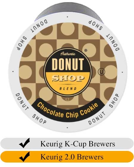 Donut Shop Chocolate Chip Cookie Coffee Cups (24) | Beanwise