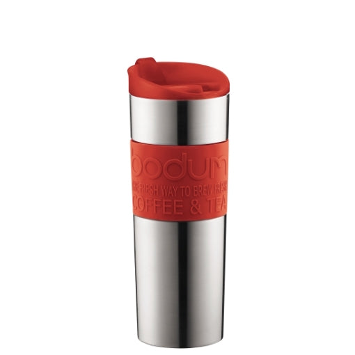 Bodum Stainless Steel Travel Mug 15oz (Red) | Beanwise