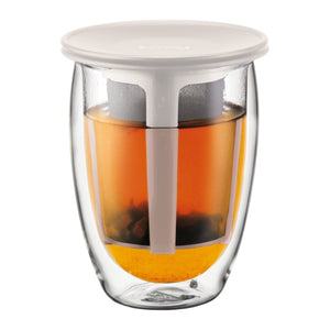 Bodum Tea For One - Glass & Tea Strainer 12oz | Beanwise