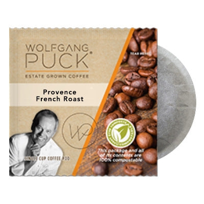 Wolfgang Puck Provence French Roast 18 - 100% Compostable Pods | Beanwise