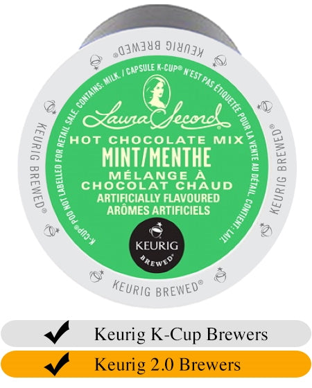Laura Secord Mint Hot Chocolate K-Cups (24) | Beanwise