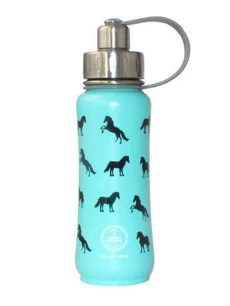Green's Your Colour Triple Insulated Bottle Ultimate Horsey (Teal - 500ml) | Beanwise
