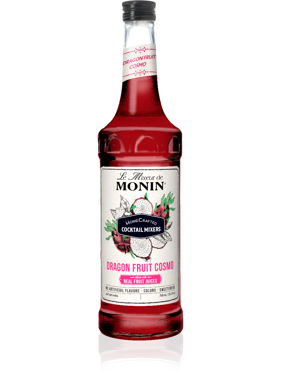 Monin Dragon Fruit Cosmo Cocktail Mixer (750ml)