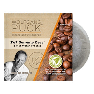 Wolfgang Puck SWP Sorrento DECAF 18 - 100% Compostable Pods | Beanwise