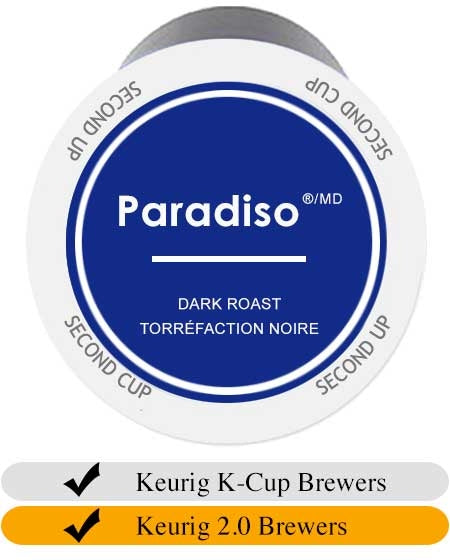 Second Cup Paradiso Dark Keurig Cups (24) | Beanwise
