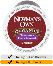 Newman's Own Organic French Roast K-Cups (24) | Beanwise