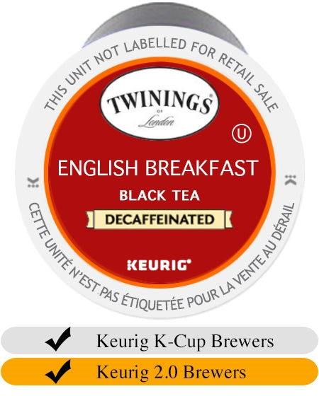 Twinings DECAF English Breakfast Tea K-Cups (24) | Beanwise