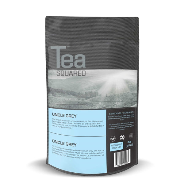 Tea Squared Uncle Grey Loose Leaf Tea (80g) | Beanwise
