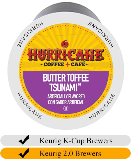 Hurricane Butter Toffee Tsunami Coffee Cups (24) | Beanwise