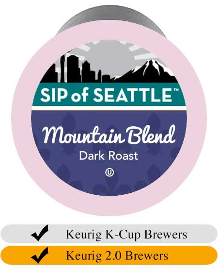 Sip of Seattle Mountain Blend K-Cups (24) | Beanwise