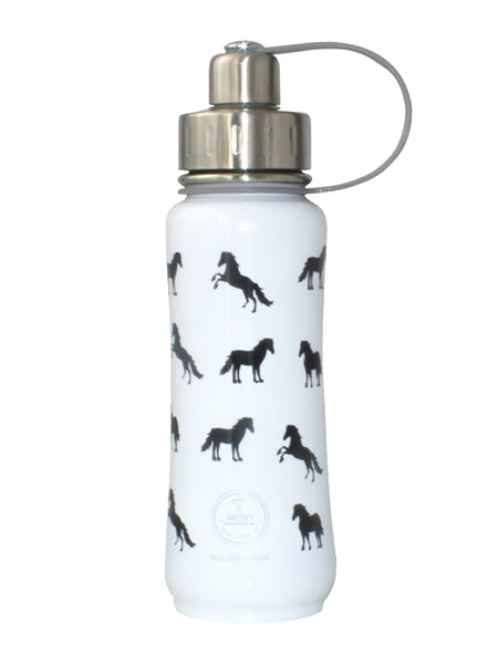 Green's Your Colour Triple Insulated Bottle Ultimate Horsey (White - 500ml) | Beanwise