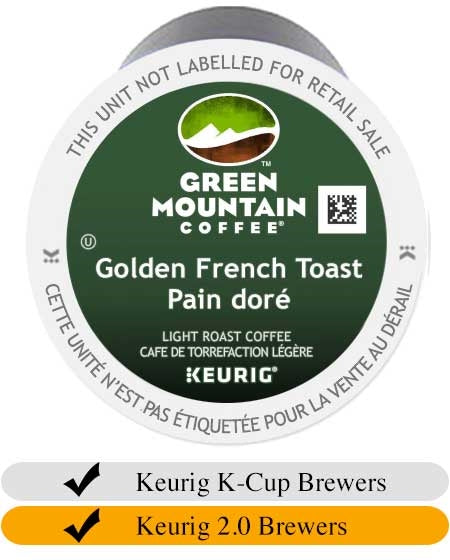 Green Mountain Golden French Toast K-Cups (24) | Beanwise