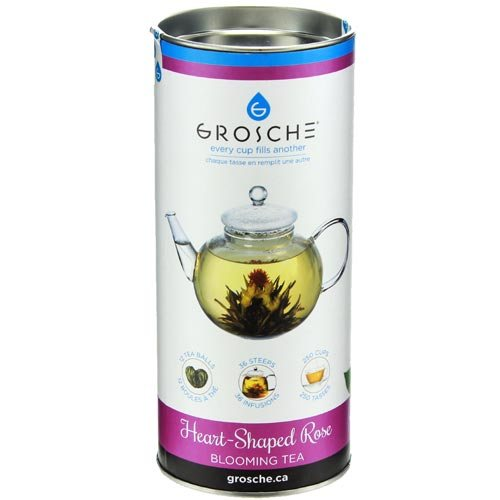 Grosche Heart-Shaped Rose Blooming Tea (12 pack)
