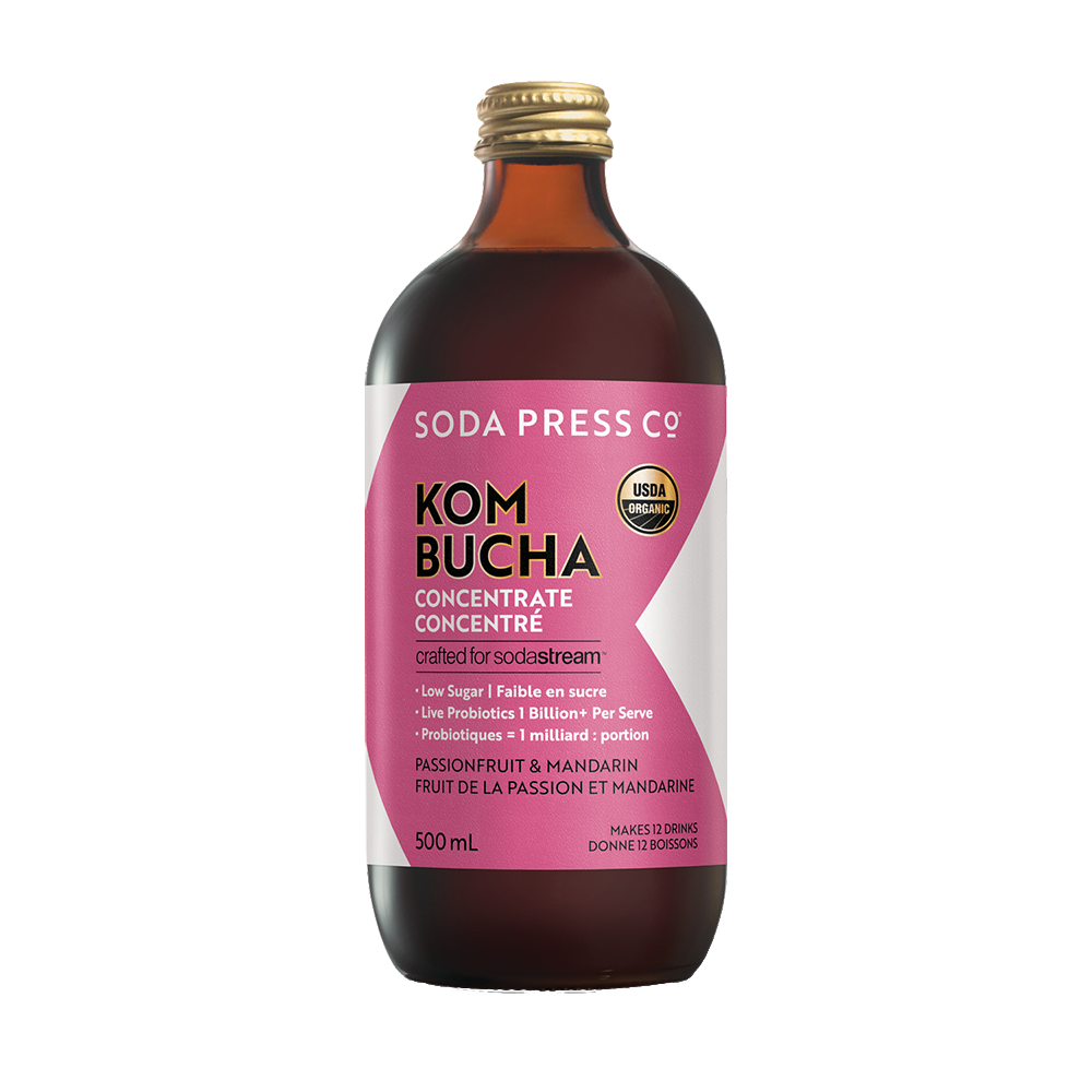 Soda Press Co. Organic Kombucha Passion Fruit and Mandarin Concentrate