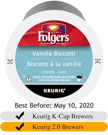Folgers Vanilla Biscotti K-Cup® Pods (24)