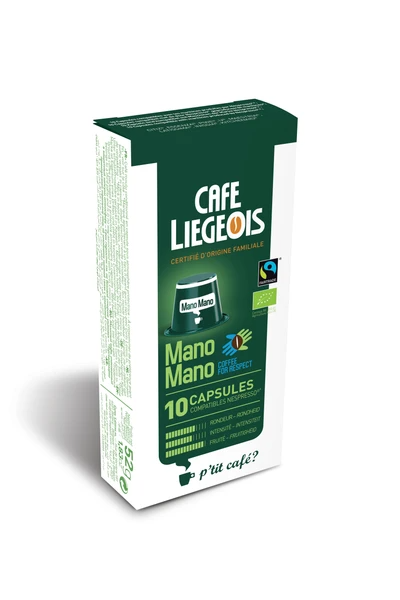 Cafe Liegeois Mano Mano Bolivian Fair Trade Capsules for Nespresso (10)