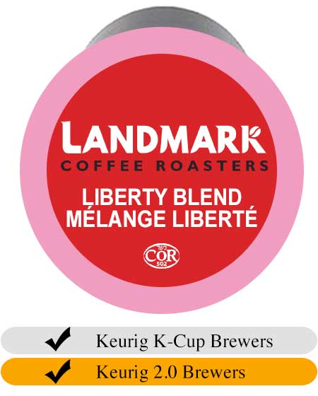 Landmark Liberty Blend Coffee Cups (24) | Beanwise