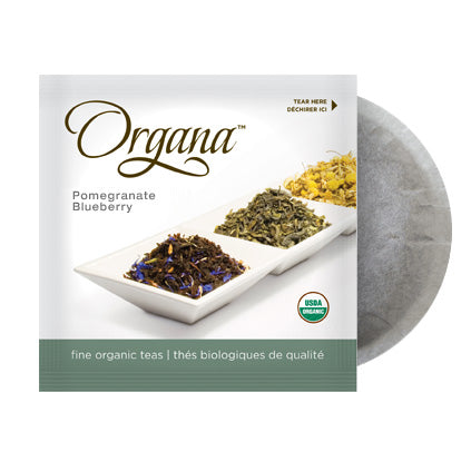 Organa Pomegranate Blueberry Flavour 18 Organic Tea Pods | Beanwise