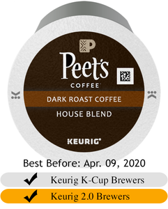 Peet's Coffee House Blend K-Cup® Pods (10)