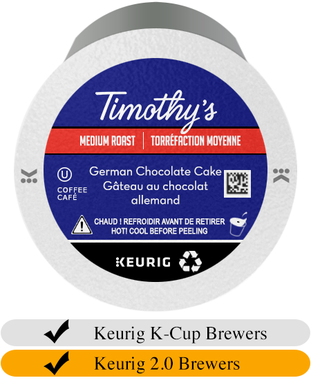 Timothy's German Chocolate Cake K-Cup® Pods (24)