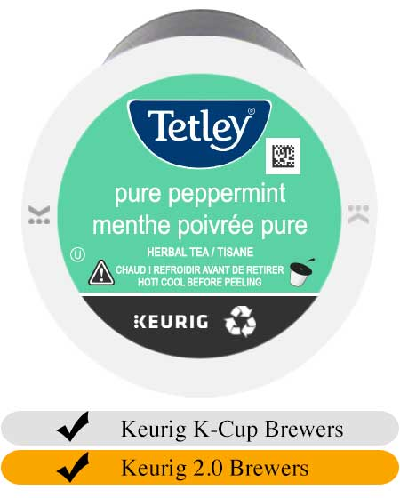 Tetley Pure Peppermint Tea K-Cups (24) | Beanwise