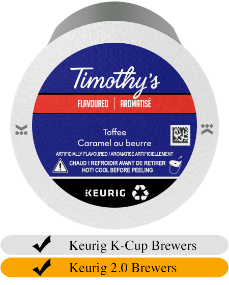 Timothy's Toffee K-Cup® Pods (24)