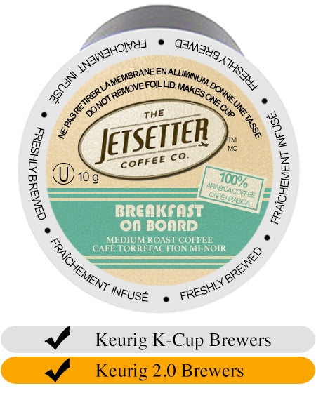 Jetsetter Coffee Co.- Breakfast on Board Cups (18) | Beanwise