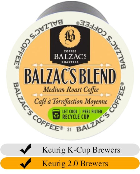 Balzacs Blend Coffee K-Cups (24) | Beanwise