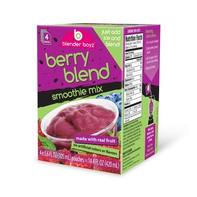Blender Boyz Smoothie Berry Blend 4 x 3.6oz | Beanwise