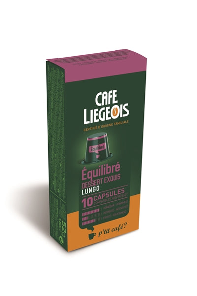Cafe Liegeois Equilibre Capsules for Nespresso (10) | Beanwise