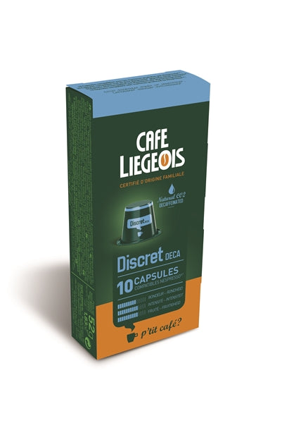 Cafe Liegeois Discret DECAF Capsules for Nespresso (10) | Beanwise