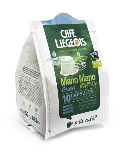 Cafe Liegeois Discret DECAF Bio-Compostable Capsules for Nespresso (10) | Beanwise